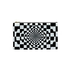 Checkered Flag Race Winner Mosaic Tile Pattern Repeat Cosmetic Bag (small) by CrypticFragmentsColors