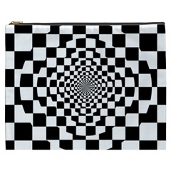 Checkered Flag Race Winner Mosaic Tile Pattern Repeat Cosmetic Bag (xxxl) by CrypticFragmentsColors