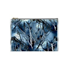 Abstract Of Frozen Bush Cosmetic Bag (medium) by canvasngiftshop