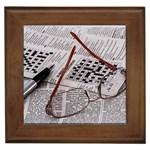 Crossword Genius Framed Ceramic Tile