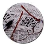 Crossword Genius 8  Mouse Pad (Round)