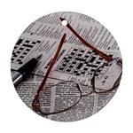 Crossword Genius Round Ornament