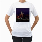 Dallas Skyline At Night Women s Two-sided T-shirt (White)