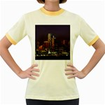 Dallas Skyline At Night Women s Ringer T-shirt (Colored)