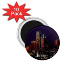 Dallas Skyline At Night 1.75  Button Magnet (10 pack)