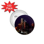 Dallas Skyline At Night 1.75  Button (100 pack)
