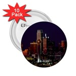 Dallas Skyline At Night 2.25  Button (10 pack)