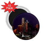 Dallas Skyline At Night 2.25  Button Magnet (10 pack)