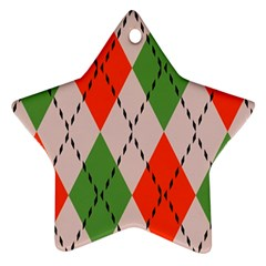 Argyle Pattern Abstract Design Ornament (star) by LalyLauraFLM
