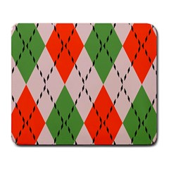 Argyle Pattern Abstract Design Large Mousepad by LalyLauraFLM