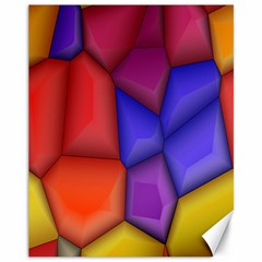 3d Colorful Shapes Canvas 11  X 14  by LalyLauraFLM