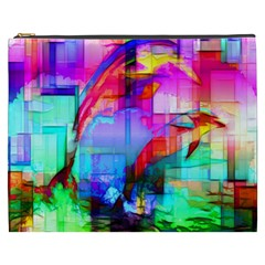 Tim Henderson Dolphins Cosmetic Bag (xxxl) by TheWowFactor