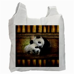 Panda Love White Reusable Bag (two Sides)