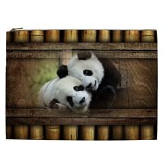 Panda Love Cosmetic Bag (xxl) by TheWowFactor