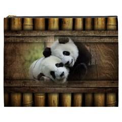 Panda Love Cosmetic Bag (xxxl) by TheWowFactor