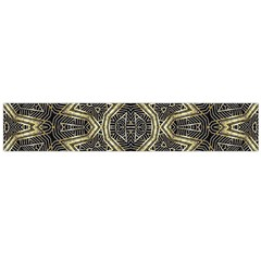 Geometric Tribal Golden Print Flano Scarf (large) by dflcprintsclothing