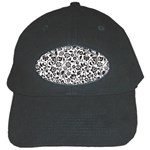 Elegant Glittery Floral Black Baseball Cap