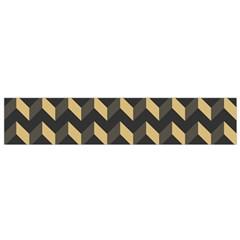 Tan Gray Modern Retro Chevron Patchwork Pattern Flano Scarf (small) by creativemom