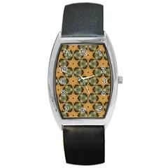 Faux Animal Print Pattern Tonneau Leather Watch by creativemom