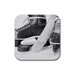 Ice Hockey Rubber Coaster (Square)