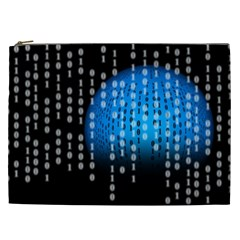 Binary Rain Cosmetic Bag (xxl) by StuffOrSomething