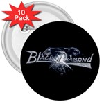 Black Diamond 3 Inch Buttons 10 Pack