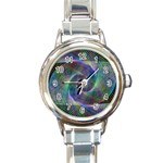 Psychedelic Spiral Round Italian Charm Watch