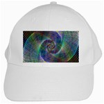 Psychedelic Spiral White Baseball Cap