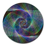 Psychedelic Spiral 8  Mouse Pad (Round)
