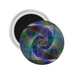 Psychedelic Spiral 2.25  Button Magnet