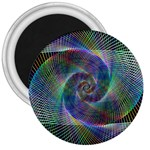 Psychedelic Spiral 3  Button Magnet