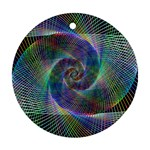 Psychedelic Spiral Round Ornament