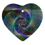 Psychedelic Spiral Heart Ornament