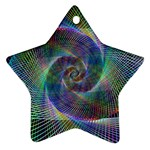Psychedelic Spiral Star Ornament