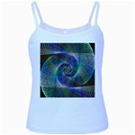 Psychedelic Spiral Baby Blue Spaghetti Tank