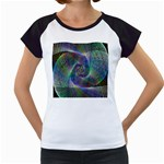 Psychedelic Spiral Women s Cap Sleeve T-Shirt (White)