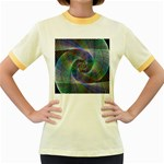 Psychedelic Spiral Women s Ringer T-shirt (Colored)