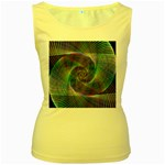 Psychedelic Spiral Women s Tank Top (Yellow)