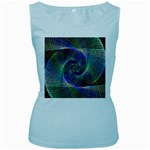 Psychedelic Spiral Women s Tank Top (Baby Blue)