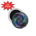 Psychedelic Spiral 1.75  Button Magnet (10 pack)