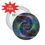 Psychedelic Spiral 2.25  Button (10 pack)