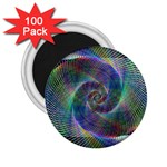 Psychedelic Spiral 2.25  Button Magnet (100 pack)