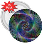 Psychedelic Spiral 3  Button (10 pack)