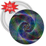 Psychedelic Spiral 3  Button (100 pack)
