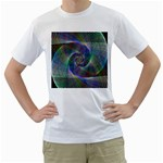 Psychedelic Spiral Men s Two-sided T-shirt (White)