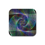 Psychedelic Spiral Drink Coaster (Square)