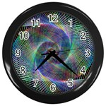 Psychedelic Spiral Wall Clock (Black)