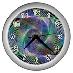 Psychedelic Spiral Wall Clock (Silver)