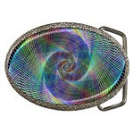 Psychedelic Spiral Belt Buckle (Oval)