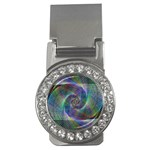 Psychedelic Spiral Money Clip (CZ)